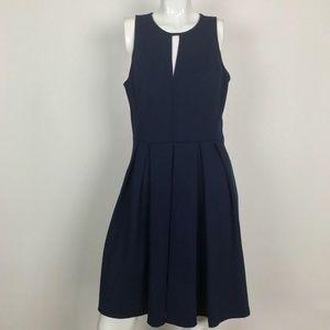 Rebecca Taylor Dress Navy Blue Fit Flare Size 12